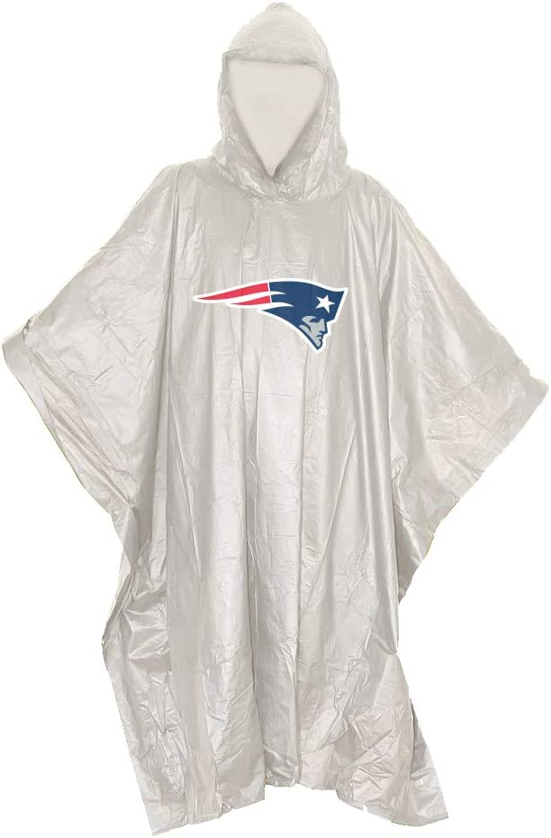 44 x 49 Officially Licensed NFL Unisex Lightweight Clear Poncho