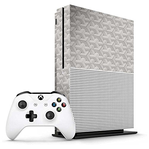 Xbox One S White Porcelain Geometric Tiles Console Skin/Cover/Wrap for Microsoft Xbox One - Porcelain Console