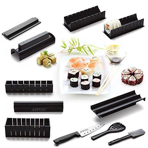 AGPtek Sushi Maker Set Reis Roll Küche DIY Einfach Meister-Roller-Set und Messer