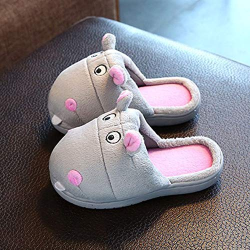 Slippers Plush Gray Fluffy Slippers Outdoor Shoes Cozy Girls Hippo Women Indoor Home Slippers Animal Cute pqcU56T
