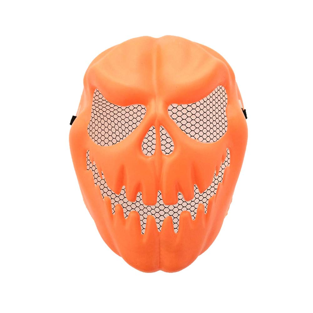 XILALU Funny Pumpkin Latex Mask, Halloween Party Cosplay Carnival Face Mask Tool Prop Costume