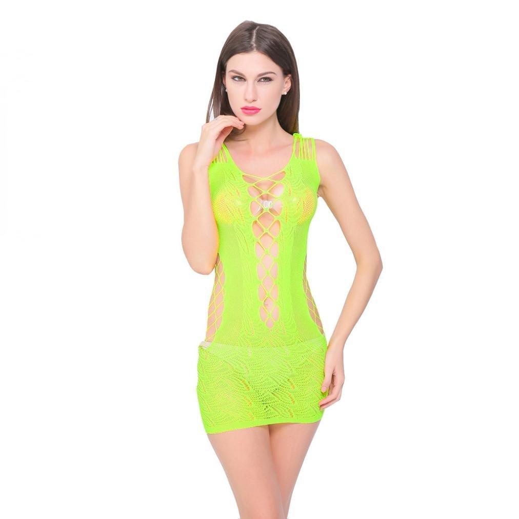 Lenceria mujer, Morwind hueco picardias sexy mujer eroticas vestido bodycon mini vestido fishnet bodysuit spandex bodysuit lenceria encaje pijama camisón ...