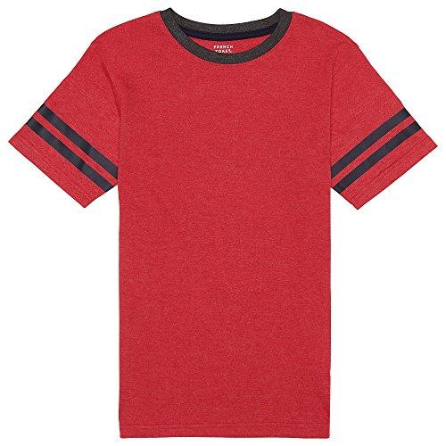 Scarlet Kids Shirt (French Toast Big Boys' Short Sleeve Ringer Tee, Scarlet Ruby Heather, L (10/12))