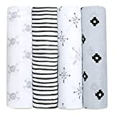 aden + anais Swaddle Blanket | Boutique Muslin Blankets for Girls & Boys | Baby Receiving Swaddles | Ideal Newborn & Infant Swaddling Set | Perfect Shower Gifts, 4 Pack, Love Struck