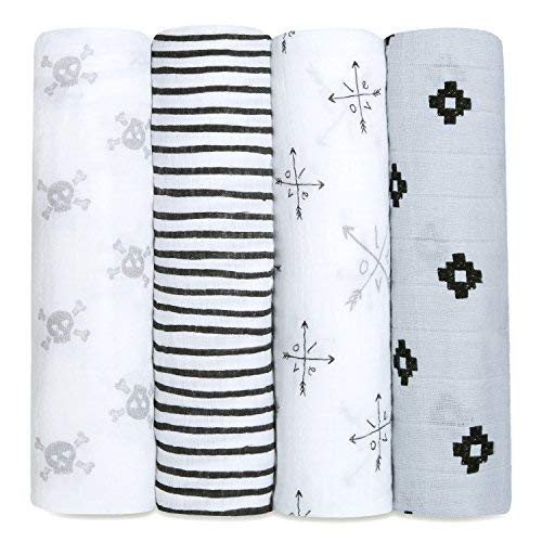 Online Boutiques For Babies (aden + anais Swaddle Blanket | Boutique Muslin Blankets for Girls & Boys | Baby Receiving Swaddles | Ideal Newborn & Infant Swaddling Set | Perfect Shower Gifts, 4 Pack,)