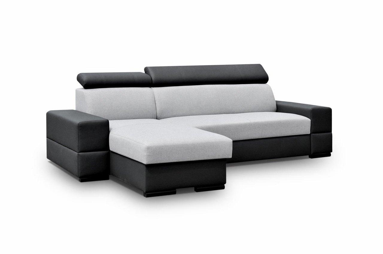 elegante eckcouch cortina flex ecksofa mit bettkasten und schlaffunktion modernes polsterecke. Black Bedroom Furniture Sets. Home Design Ideas