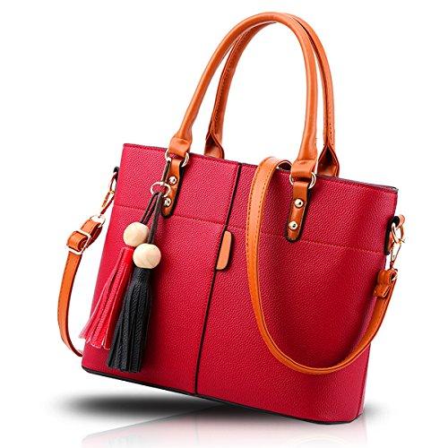 Red Tassel Wine Fashion Handbag Pack Diagonal Wallet Fashion Women Retro Shoulder Handbags Handbag Tisdaini Diagonal q8w6OFX