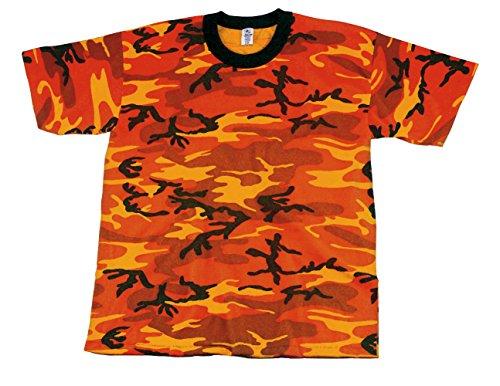許される悩みラップロスコ サヴィッジオレンジカモ Tシャツ ROTHCO T-SHIRT  SAVAGE ORANGE CANO 5997