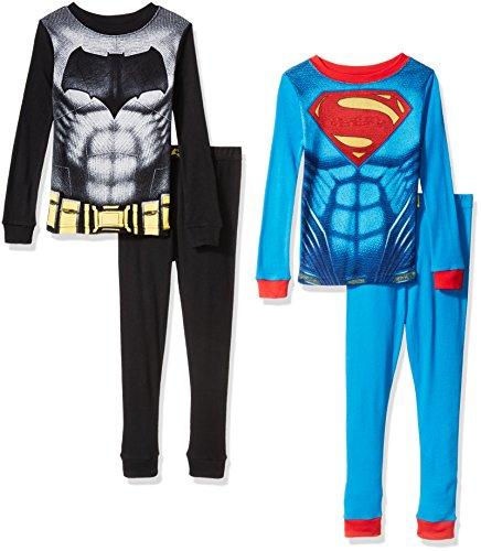 [Batman Vs Superman 4pc Cotton Sleepwear, Multi, 2T] (Joker 2016 Costume)