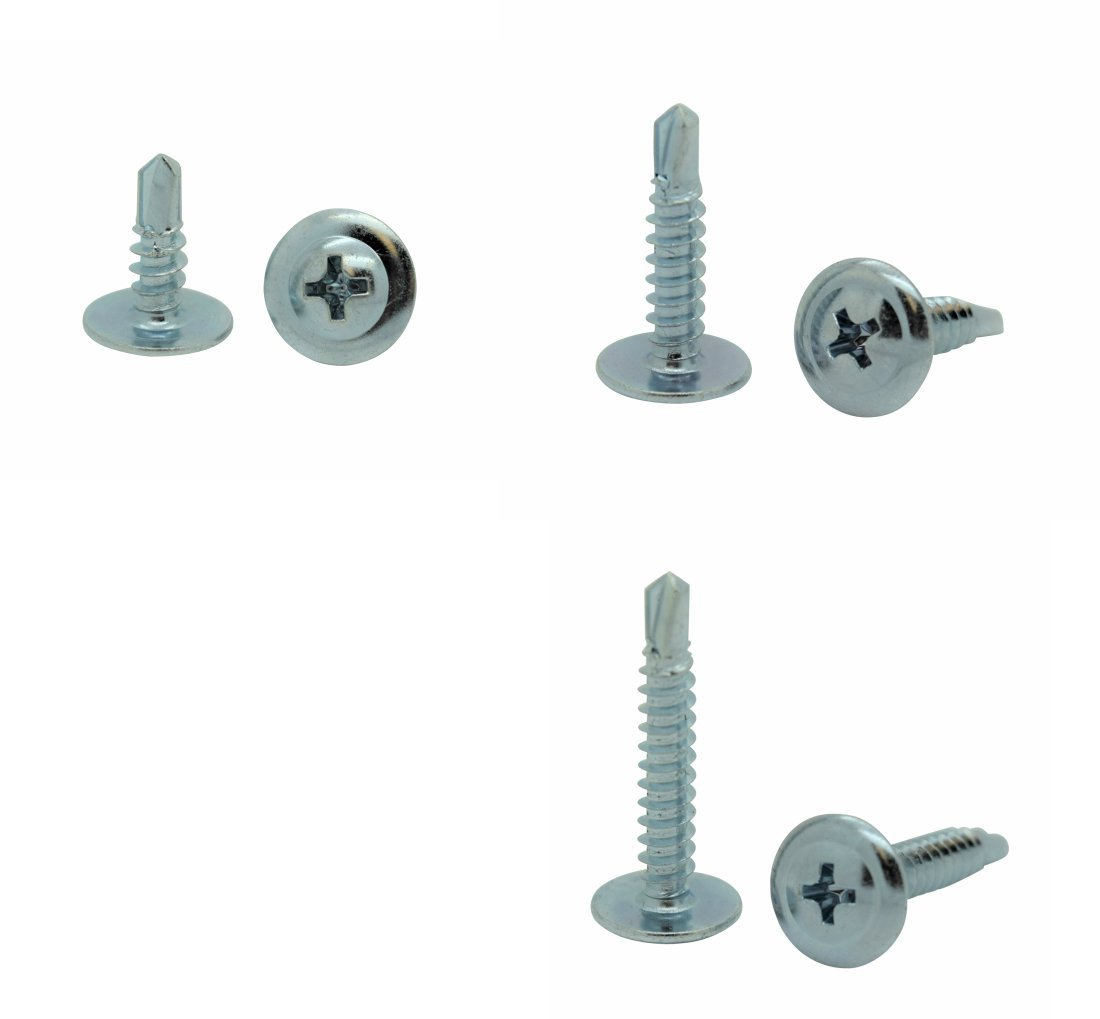 SNUG Fasteners (SNG114) 300 Qty Assorted #8 Zinc Wafer Modified Truss Head TEK Self Drilling Sheet Metal Screws