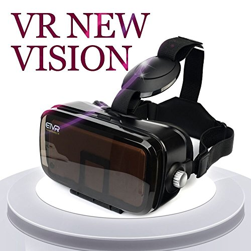 ETVR 3D Virtual Reality Glasses 120 Degree FOV VR Headset With Larger Screen Immersive Virtual Reality Experience Fit for iPhone 7/6/6s Plus, Samsung Galaxy S5/6/7 Edge Etc (4.5-6.2 Inches)