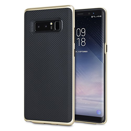 Samsung Galaxy Note 8 Carbon Fiber Case - Olixar X-Duo - Dual Layered Protection - - Fibre Carbon Gold
