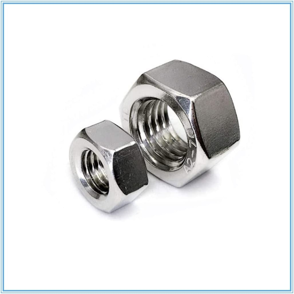 Nologo Hex Nut Stainless Steel Metric Thread Hex Hex Nut Hex Nut Size : M2.5