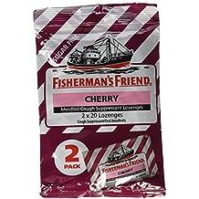 Fisherman's Friend Sugar Free Cherry Cough Suppressant Lozenges, 40-count Bags (2 Sets)
