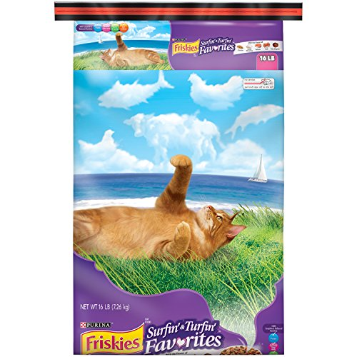 Purina Friskies Surfin' & Turfin' Favorites Cat Food - (1) 16 lb. Bag