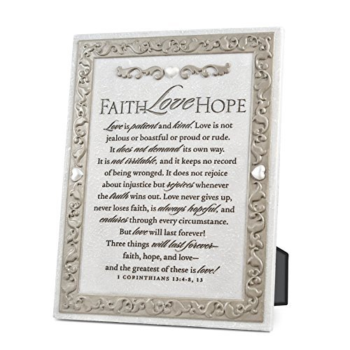 Lighthouse Christian Products Faith Hope Love Plaque, 8 x 6 by Lighthouse Christian Products by Lighthouse Christian Products