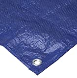 Bazic 4'x6' Tarp - Multipurpose Cover or Great Tent For Gardening Camping Traveling Weather-Resistant Small Size Tarpaulin