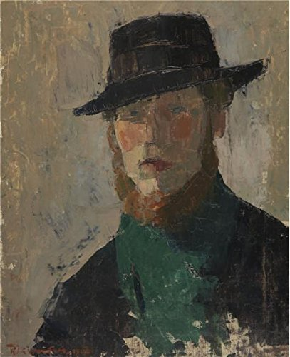 ['Rik Wouters - Self Portrait Of Rik Wouters With Black Hat, 1908' Oil Painting, 24x29 Inch / 61x75 Cm ,printed On Perfect Effect Canvas ,this Beautiful Art Decorative Prints On Canvas Is Perfectly Suitalbe For Bathroom Artwork And Home Decor And] (Stink Bug Halloween Costume)