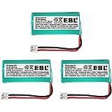 EBL BT18433 BT-18433 BT184342 BT-184342 BT1011 BT-1011 Replacement Battery Compatible with At&T and Vtech BT-8300 BATT-6010 89-1326-00-00 89-1330-01-00 CPH-515D Cordless Phone 3 Pack