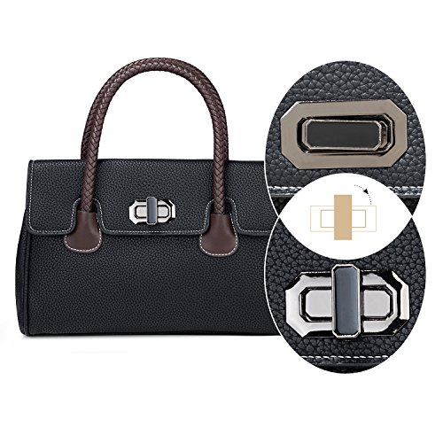 Satchel handle Small Top Black Bag Handle Shoulder Exquisite Bag and MINICE Lady Leather With Handbag Bag Women Woven PU Black xWSYqanHn