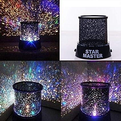 Queta - Lámpara LED de proyector de Cielo Nocturno con Estrella ...