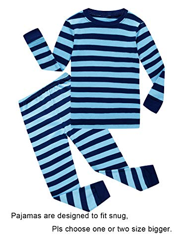 Striped Baby Boys Long Sleeve Pajamas 100% Cotton Sleepwears Infant Size 18-24 Mothes