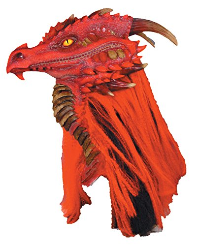Dragon Costumes For Adults - Fire Brimstone Dragon Deluxe Adult Halloween Mask