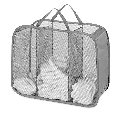 Whitmor Pop & Fold Laundry Sorter, Paloma Gray
