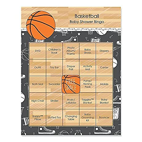 Nothinu0027 But Net   Basketball   Baby Shower Game Bingo Cards   16 Count
