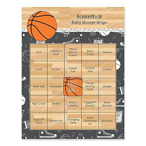 Nothin' But Net - Basketball - Baby Shower Game Bingo Cards - 16 Count