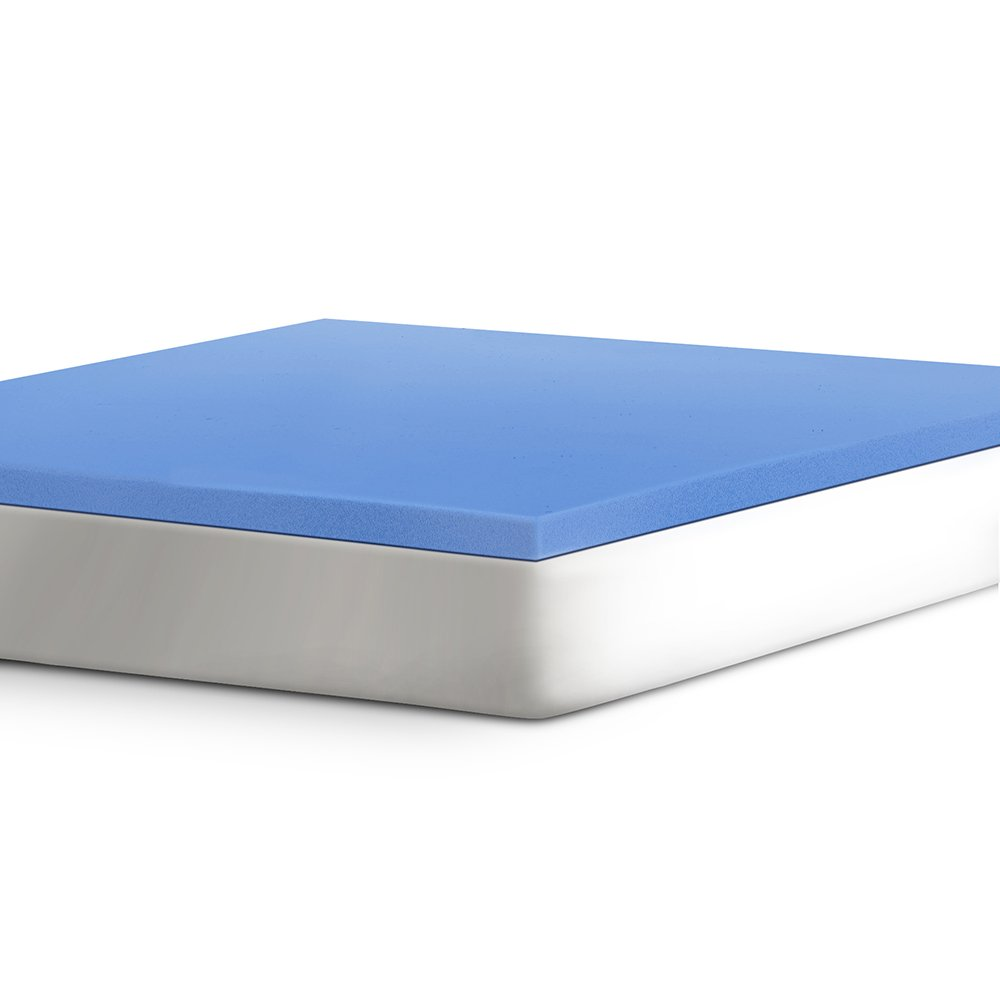 "Serta 2"" Support Gel-Infused Memory Foam Mattress Topper, Twin XL"
