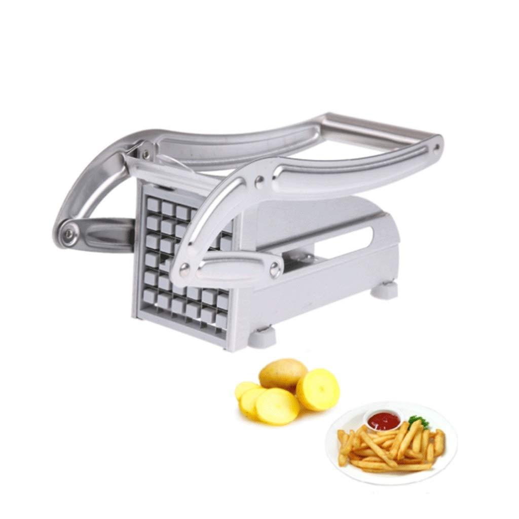 Graters Spiralizer Stainless Steel French Fries Cutters Potato Chips Strip Cutting Machine Maker Slicer Chopper Dicer Spiral Slicer W/2 Blades Kitchen Gadgets Food Processor by BingWS