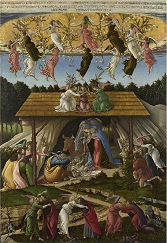 Oil Painting 'Sandro Botticelli-'Mystic Nativity',1500' Printing On High Quality Polyster Canvas , 12x17 Inch / 30x44 Cm ,the Best Home Theater Decor And Home Artwork And Gifts Is This High Quality Art Decorative Prints On Canvas