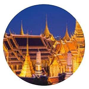 alfombrilla de ratón Templo del Buda Esmeralda en Bangkok, Tailandia - ronda - 20cm