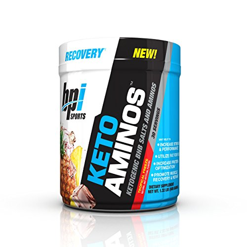 BPI Sports Keto Aminos Ketogenic BHB Salts and Aminos, Tropical Freeze, 30 Servings