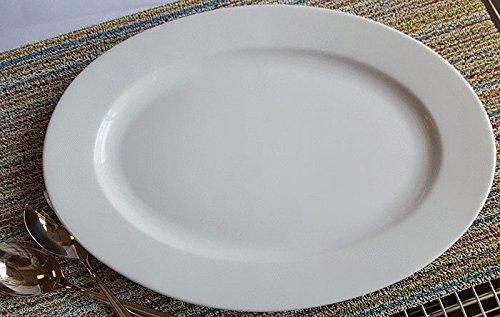 BIA Cordon Bleu 20 -Inch Porcelain Oval Serving Platter, -