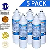 Icepure RWF3500A Water Filter Compatible with LG LT800P ,ADQ73613401,ADQ73613403, ADQ73613402 ,Kenmore 9490,5PACK