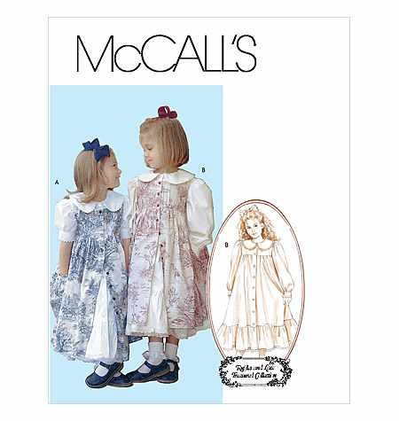 - Mccall's Costumes Sewing Pattern M4648 RUFFLES & LACE TREASURED COLLECTION GIRLS' DRESSES & PINAFORE Size: CDD Child 2-3-4-5