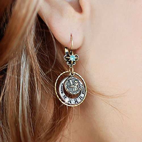 Virgo Zodiac Sign Astrology Earrings - August and September Birthday Gifts