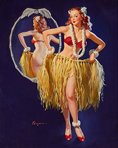 Gil Elvgren Giclee Canvas Print Paintings Poster Reproduction(Pin Up Girls 96) (Halloween History Documentary For Kids)