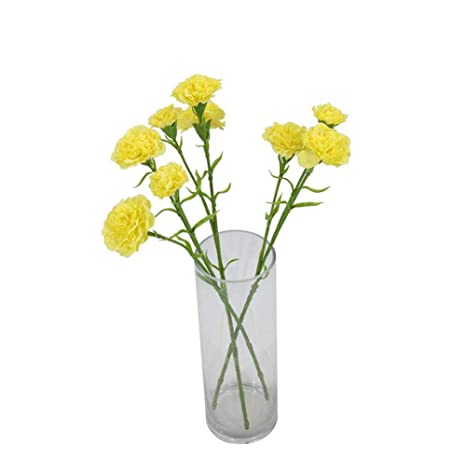 f035ca09f3f Amazon.com: ANGLE Branch 3 Carnation Artificial Fake Flower Mother's ...