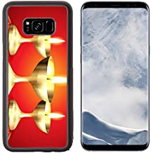 Liili Premium Samsung Galaxy S8 Plus Aluminum Backplate Bumper Snap Case IMAGE ID: 15655882 beautiful golden diya on red background