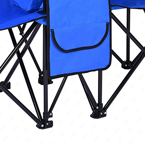 2 Folding Chair Camp With Removable Umbrella Table