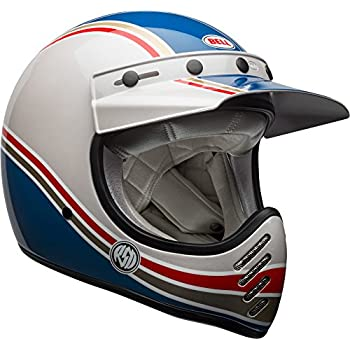 Bell Moto-3 Off-Road Motorcycle Helmet (RSD Malibu Gloss Blue/White, Medium)