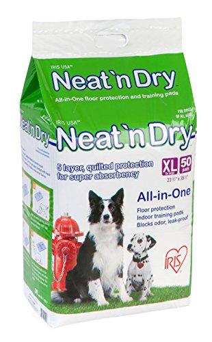 IRIS Neat 'n Dry Premium Pet Training Pads, Extra Large, 50 - Dry Pad Training
