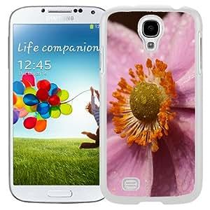 Beautiful Unique Designed Samsung Galaxy S4 I9500 i337 M919 i545 r970 l720 Phone Case With Macro Purple Flower_White Phone Case