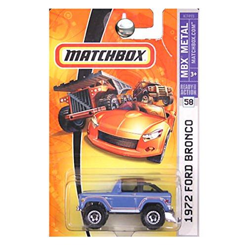 2007 Matchbox -#58 1972 Ford Bronco Blue Collectibles Collector Car