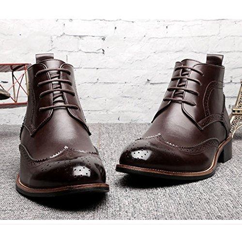 Cordones Oxfords 1 Botas High Zapatos Wingtip New Elevator Color Brogue Cm Creciente 2