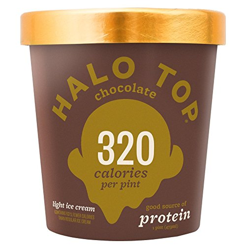 Halo Top, Chocolate Ice Cream, Pint (Pack of 8) by Halo Top
