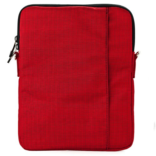 VanGoddy Slim Red Cross Body Tablet Carrying Case Bag for Apple iPad 9.7-inch, iPad Pro, Air 10.5-inch, 11-inch iPad Pro